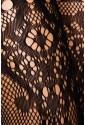 Black stockings with suspenders imitation