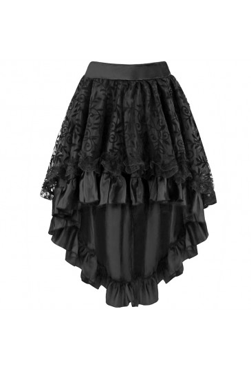 Lace and Satin High-low gothic corset skirt