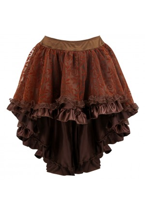 Lace and Satin High-low steampunk corset skirt
