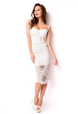 Amazing white lace bandage dress