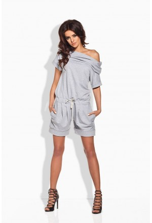 Leisure active wear grey summer romper