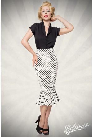 Elegant retro pencil skirt with frill a la Marilyn