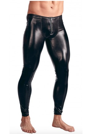 Sexy Men's Black PU Leather Leggings