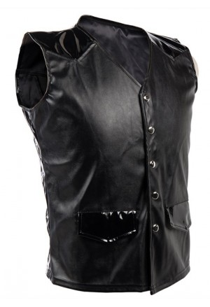 Mens Steampunk Gothic Faux Leather Corset Vest