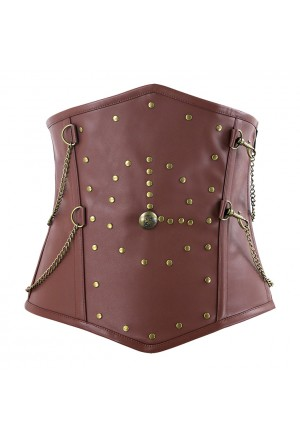Men's Gothic Retro Brown Outerwear Corset