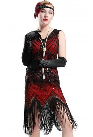 878db5432171 Secesné art deco spoločenské šaty inšpirované Veľkým Gatsbym - štýl 20.roky