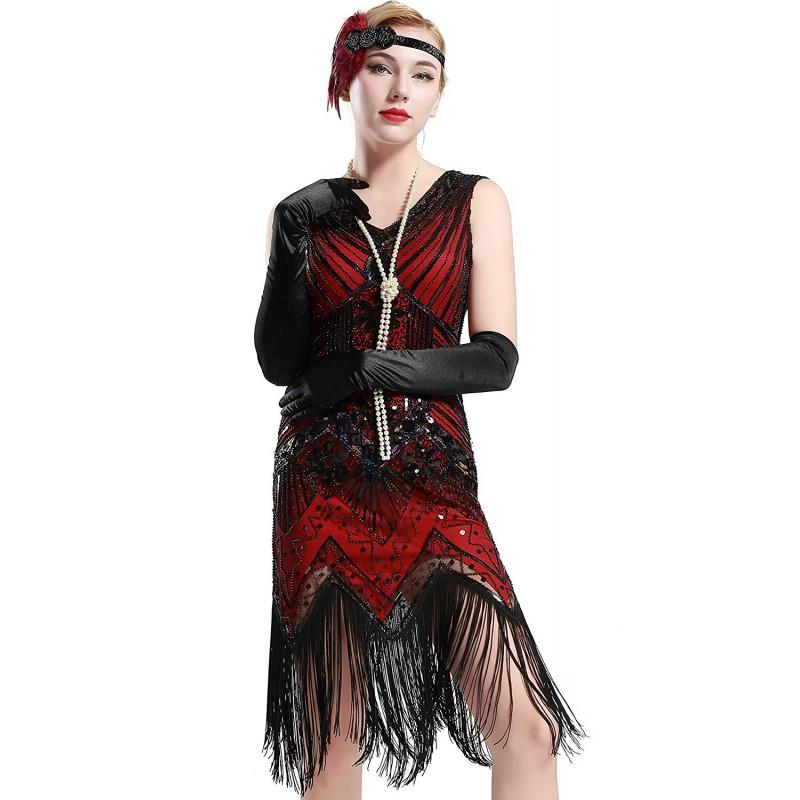 Secesné spoločenské šaty inšpirované Veľkým Gatsbym - štýl 20.roky. Loading  zoom af0def4e7b5
