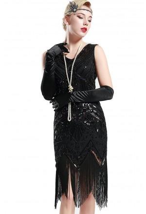 Art deco spoločenské šaty a lá Veľký Gatsby 20 roky