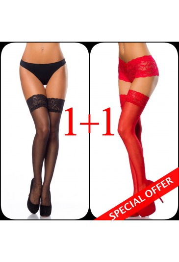 Multipack lace stockings - 2 pieces for bulk price