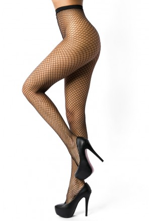 Hot black mesh fishnet pantyhose