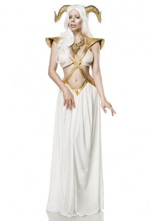 Luxury costume Golden Fairy from Mask Paradise