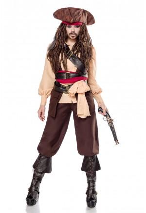 Funky women costume Captain Jacky