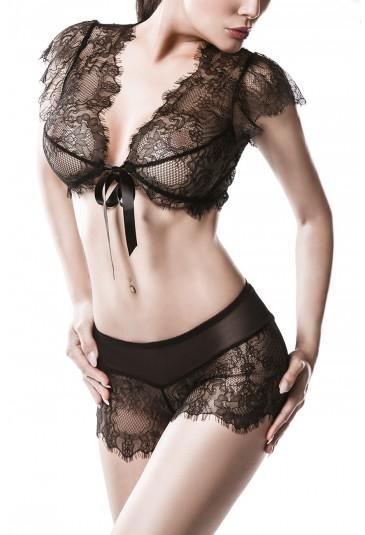 GREY VELVET premium set of underwear lingerie