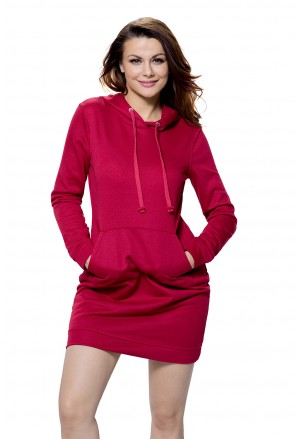 Slim Fit Pocket Front Hoodie Mini Dress