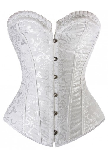 Luxurious and sophisticated vamp white corset