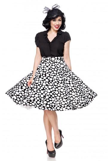 Široká retro sukňa s bodkami Belsira