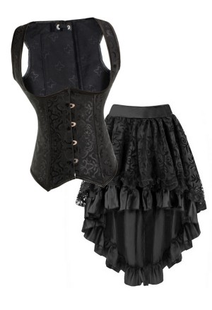 Gothic corset skirt set - GOTHIC LADY