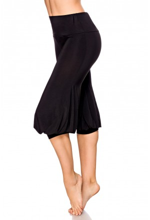 Komfortné čierne aladin nohavice s vysokým pásom