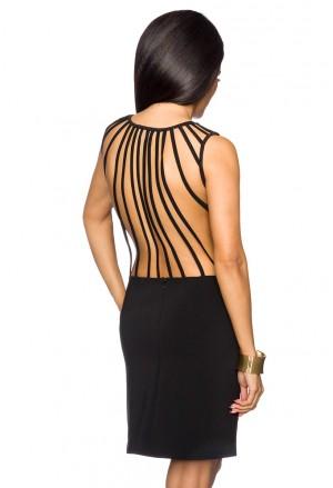 Čierne klubové mini šaty