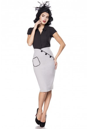 Pinup šedá sukňa Belsira