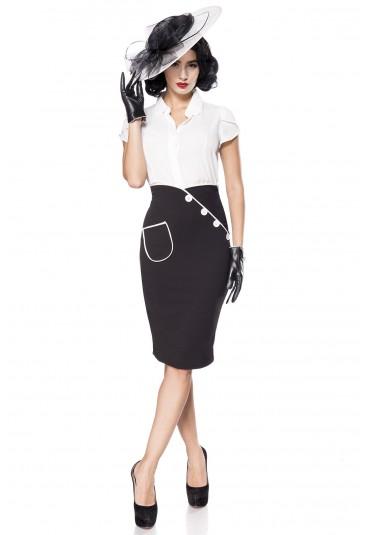 Pinup čierna sukňa Belsira