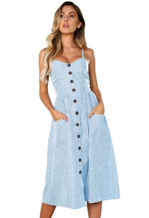 Pásikované šaty na ramienka Sylvia
