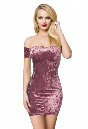 Seductive carmen velvet mini dress