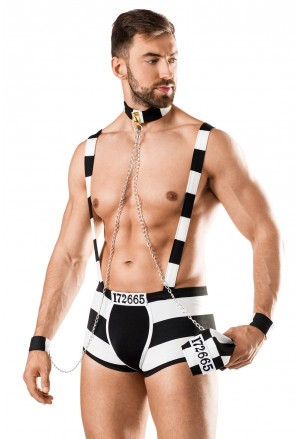 Exciting men roleplay convict costume