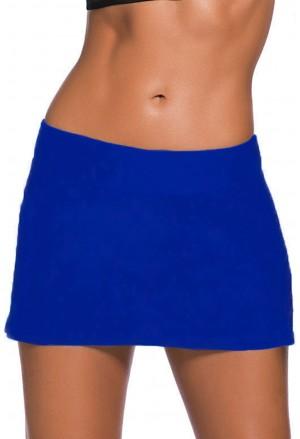 Blue Skirted Swim Bikini Bottom