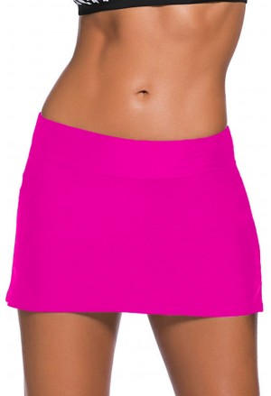 Magenta Skirted Swim Bikini Bottom