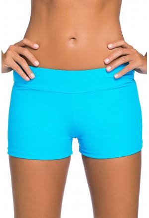 Wide Waistband Swimsuit Bottom Shorts