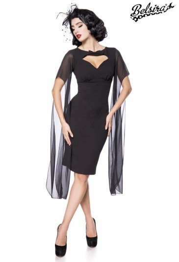 34aa9390b21f Čierne retro šaty Belsira - SELECTAFASHION.COM