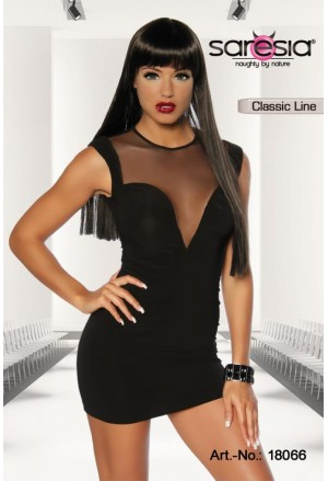 Black Sensation mesh Saresia minidress