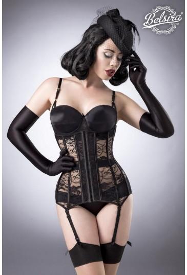 4 piece glamour corset lingerie set Belsira