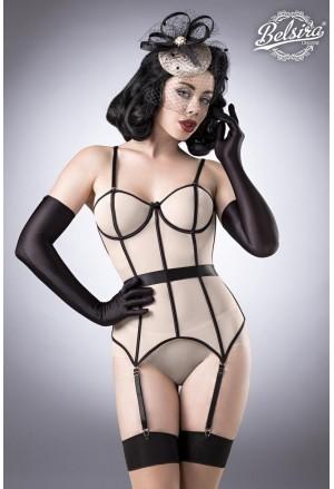 Seductive retro nude corset set Belsira