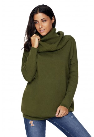 Cozy Cowl Neck Long Sleeve Sweater