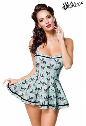 Retro plavkové šaty Belsira