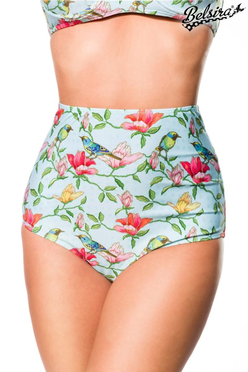 Septangle Womens Vintage High Waisted Bikini Bottom Shirred Tankini Briefs