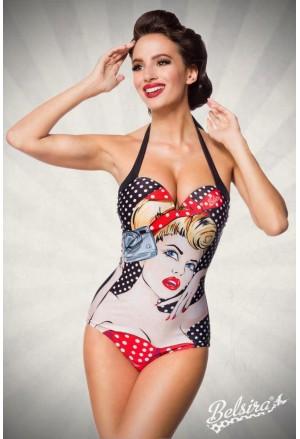 Vintage pop art one piece swimwear by Belsira