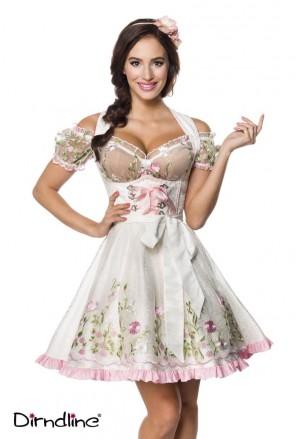 Mini floral dirndl dress with blouse