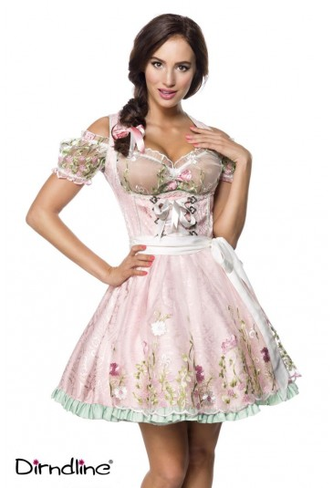 Mini floral dirndl dress with blouse