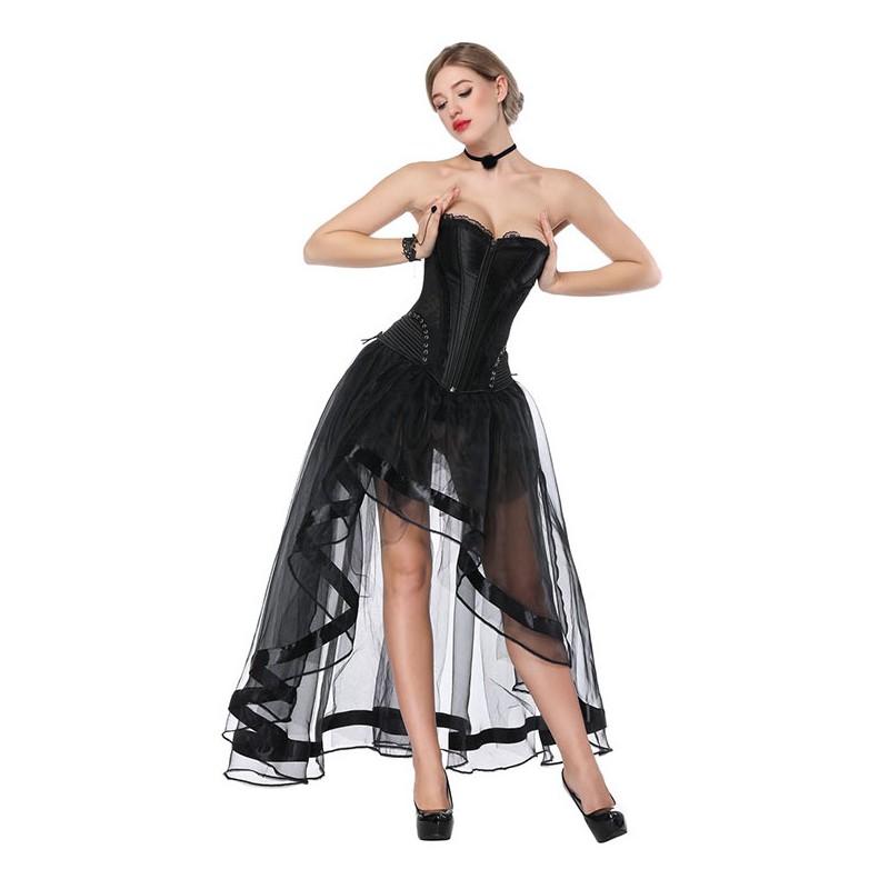 1cf039ea0105 Čierna burleska tylová sukňa ku korzetom - SELECTAFASHION.COM