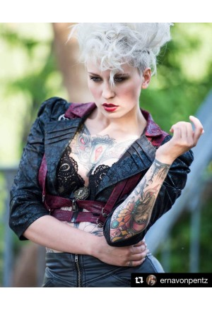 Unique steampunk short jacket