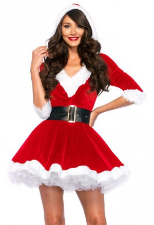 Santa Baby Velvet Christmas Holiday Dress