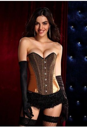 Satin shiny corset - gold