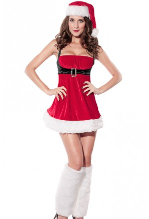 Santa Envy Christmas costume for lady