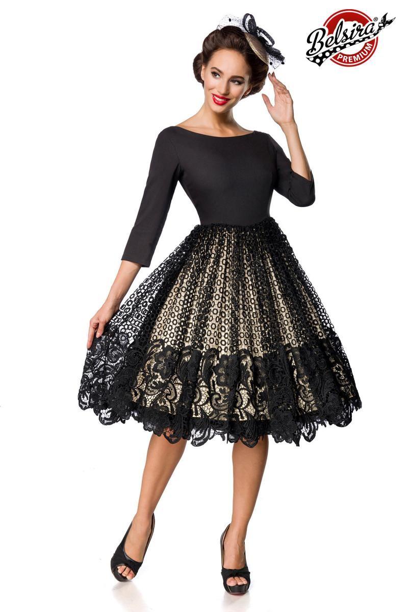 2f8d31d1d86a Premiové retro swingové šaty s čipkou - SELECTAFASHION.COM
