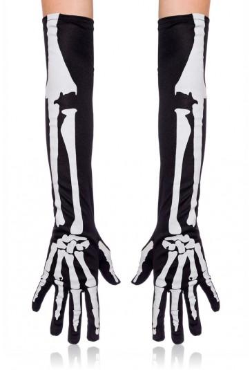 Skelet black gloves