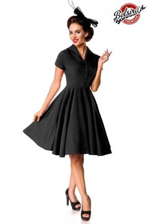 Ladné čierne dámske vintage šaty Belsira