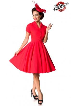 Ladné červené dámske vintage šaty Belsira